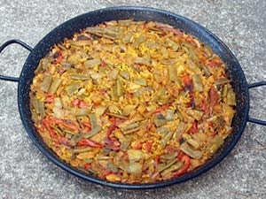 Paella de verduras recetas de paella valenciana paella for Como hacer paella de verduras