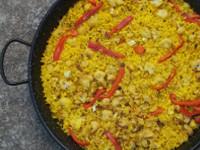 receta de paella de coliflor y bacalao